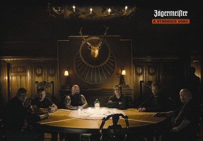 "Jagermeister Unveils ""Stronger Bond"" Television Campaign with top talent.  (PRNewsFoto/Jagermeister)"