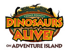 The logo for Cedar Point's new Dinosaurs Alive! on Adventure Island.