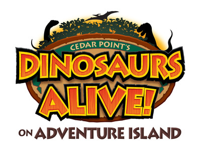 The logo for Cedar Point's new Dinosaurs Alive! on Adventure Island.