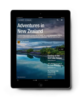 It's easy to collect, save and share amazing stories, inspiring videos and beautiful photos in a magazine on Flipboard.  (PRNewsFoto/Flipboard)