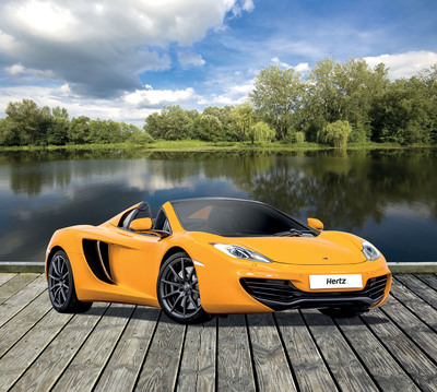 Hertz has added a number of elite models to its Supercar range in Europe, including all new McLaren MP4-12C Spider, now available for rental in UK and Germany. Providing the opportunity to drive high end marques that would normally retail at six figure prices, Hertz Supercars rentals are available in France, Germany, Italy, Netherlands, Spain, and the UK.  (PRNewsFoto/The Hertz Corporation)