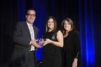 (Left to Right): Neil Hirsch, APR, President of PRSA Georgia Chapter and Manager, Global External Communications with Novelis presents the Best of Phoenix Award to Lindsay Ash with MSLGROUP Atlanta. Also pictured is Juliann Kaiser, APR of Kaiser Marketing Group and a Past President of PRSA Georgia.