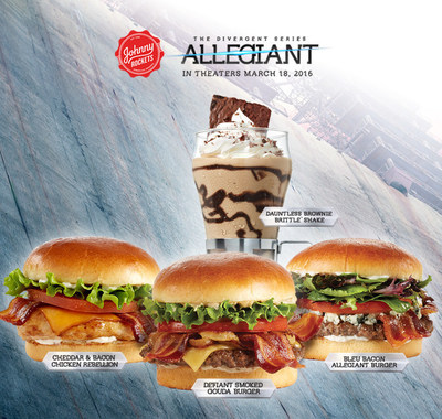 "Johnny Rockets Partners with Lionsgate for the Studio's New Film ""The Divergent Series: Allegiant"" - Debut of New Bold, Fresh Menu Items Inspired by the Wildly Popular Film Series"