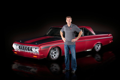 "NASCAR Championship-Winning Crew Chief Unveils the ""ForPly,"" a One-of-a-kind 1964 Plymouth Belvedere Featuring Modern NASCAR Race Engine, Components, and Sherwin-Williams(R) Automotive Finishes.  (PRNewsFoto/Sherwin-Williams Automotive Finishes)"