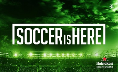 "Heineken(r) Proves ""Soccer Is Here"" With U.S. Campaign Featuring Soccer Stars Landon Donovan, Carli ..."
