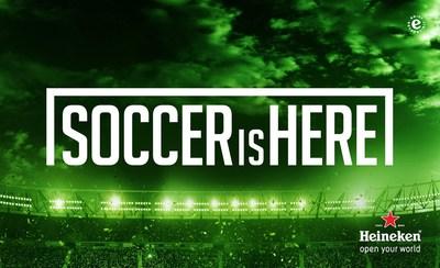 "Heineken(r) Proves ""Soccer Is Here"" With U.S. Campaign Featuring Soccer Stars Landon Donovan, Carli Lloyd & David Villa"