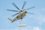 The Sikorsky CH-53 King Stallion lifts a 27,000 pound external load.