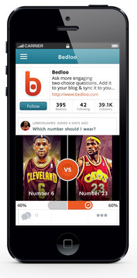 "Lebron's ""No. 6 or 23"" Question on the Bedloo App (PRNewsFoto/Bedloo)"
