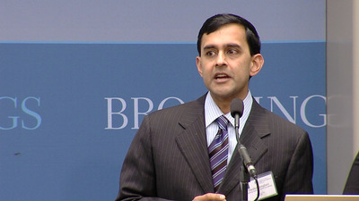 Dr. Darshak Sanghavi, Merkin Fellow for Finance Reform and Clinical Leadership & Managing Director at Brookings discusses payment and deliver reform. (PRNewsFoto/Heritage Provider Network, Inc.)