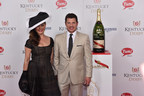 Nick and Vanessa Lachey celebrate with the official champagne of the Kentucky Derby, G.H.MUMM.