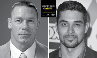 WWE Superstar, actor and reality television show host John Cena and actor Wilmer Valderrama will be Jaguar Land Rover's ambassadors throughout the 2016 Invictus Games and captain the Wheelchair Rugby Exhibition Match teams.