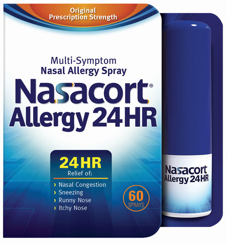 Nasacort Allergy 24HR(R) Nasal Spray Is now available without a prescription.  (PRNewsFoto/Sanofi US)