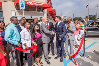 CVS Pharmacy Becomes First Major Retailer to Open in New Orleans Lower Ninth Ward Since Hurricane Katrina; New Orleans Mayor Mitch Landrieu and CVS Pharmacy celebrate grand opening with ribbon cutting ceremony