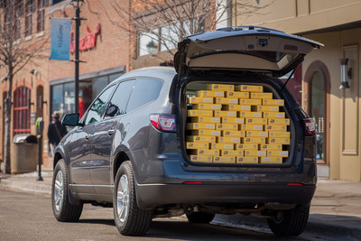 In celebration of Pi Day, a day noted by math enthusiasts on Friday, March 14, 2014 (3/14) for the mathematical constant (Pi), Chevrolet is delivering fresh baked ABC Grand Traverse Pie Company pies using 2014 Chevrolet Traverses throughout southeastern Michigan.