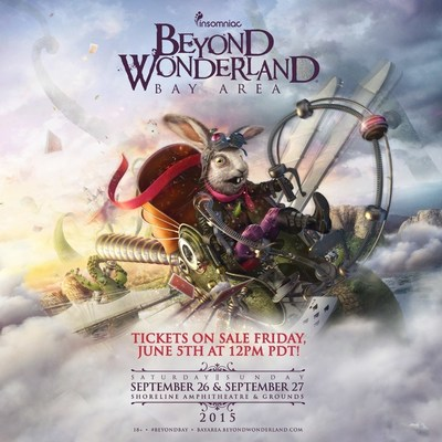 4TH ANNUAL BEYOND WONDERLAND, BAY AREA RETURNS TO SHORELINE AMPHITHEATER SEPTEMBER 26-27, 2015