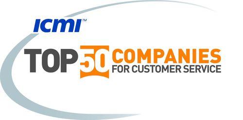 ICMI TOP 50 COMPANIES FOR CUSTOMER SERVICE (PRNewsFoto/UBM Live)