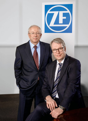 ZF completes acquisition of TRW Automotive. Dr. Stefan Sommer, CEO of ZF and John Plant, CEO of TRW.