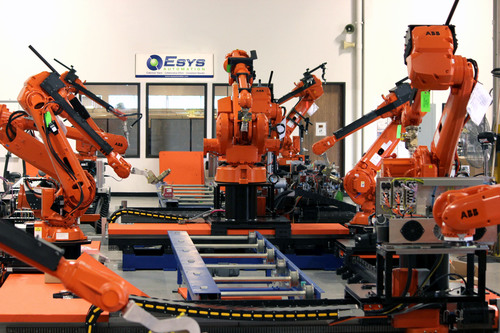 Esys Automation Wins Turnkey Sealer Line for Major European Automotive OEM -- Esys has provided automated dispensing systems for several US Automotive OEM plants in the United States, Canada and Mexico. Applications include: Anti-Chip, Cosmetic Seam Sealer, Interior Seam Sealer, Liquid Applied Sound Deadener (LASD), Roof Ditch Sealer, and Underbody Sealer. (PRNewsFoto/Esys Automation) (PRNewsFoto/ESYS AUTOMATION)