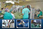 Surgeons at Sheba Medical Center perform an operation using Da Vinci robot.
