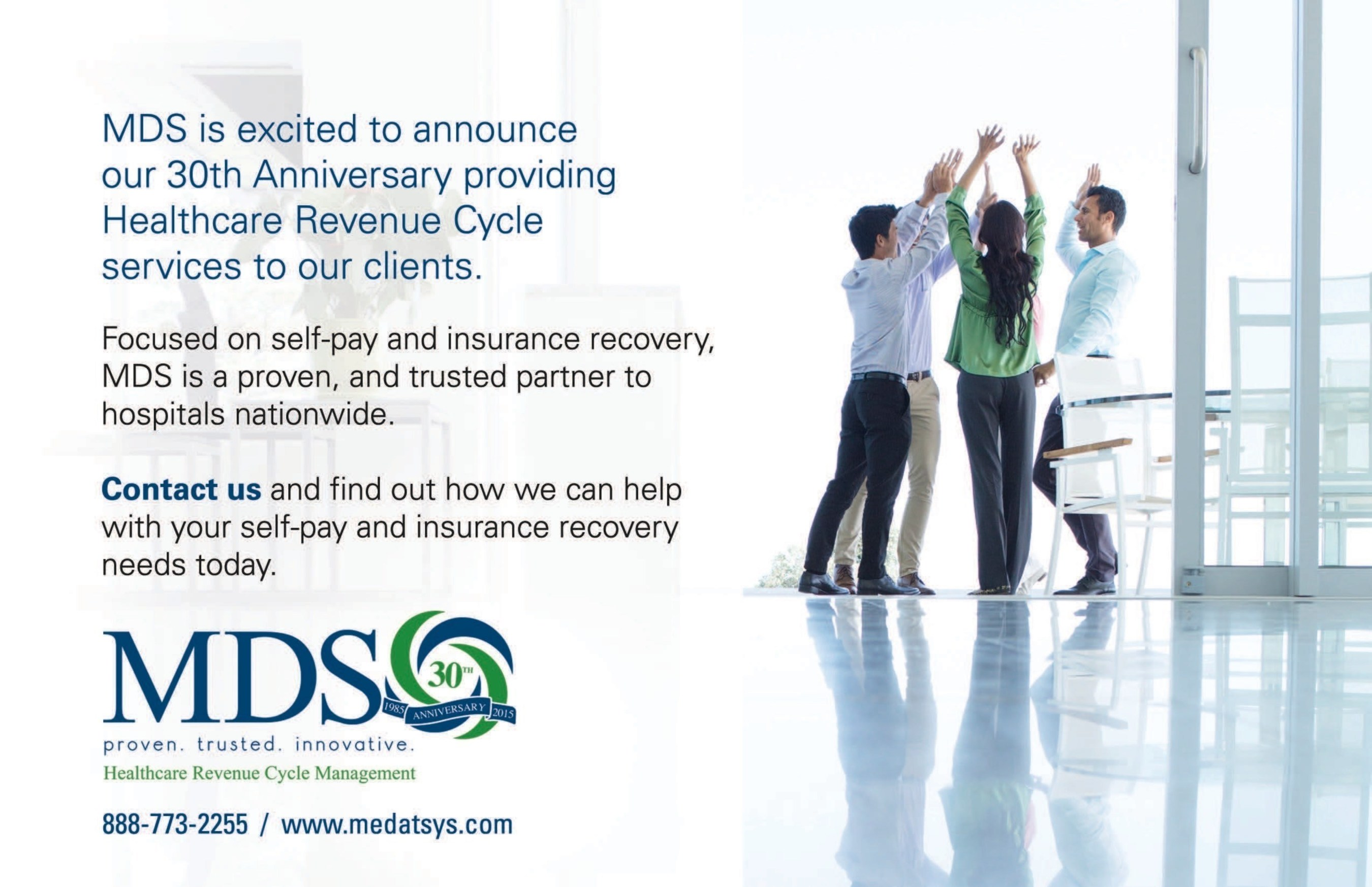 medical data systems inc mds marks 30 years of service to the