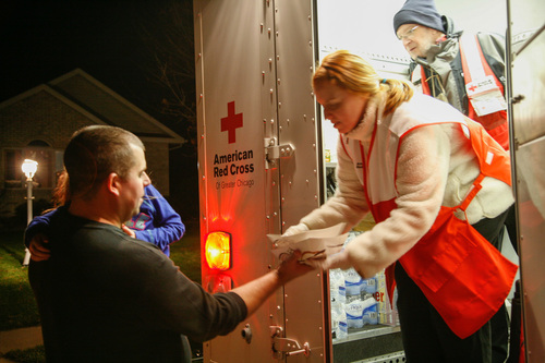 Red Cross volunteers are working around the clock to provide food, shelter, relief supplies and other assistance to those in need across the region. Lowe's donated $250,000 to the Red Cross to help with recovery efforts. (PRNewsFoto/Lowe's)