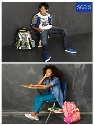 Sears kicked off the back-to-school season by expanding its popular Roebuck & Co. line to boys and girls. Previously only available for men, the new Roebuck & Co. line includes denim, plus khaki cargo pants, long-sleeve tops and hoodies for boys, and leggings, tops and jackets for girls.