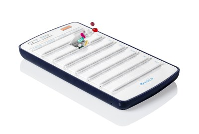 The SimpleMed+, a smart medication dispenser, part of Vaica's complete, cloud based medication managing system. Makes use of auditory, visual, mail and text message alerts.
