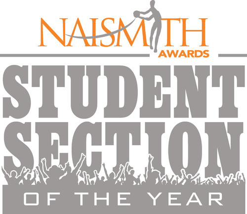 Naismith Student Section of the Year.  (PRNewsFoto/The Collegiate Licensing Company)