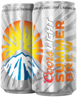 COORS LIGHT(R) UNVEILS NEW LINEUP SO BEER DRINKERS CAN #LIVESUMMER. World's Most Refreshing Beer Debuts First-Ever Coors Light Summer Brew, enabling legal-drinking-age consumers to squeeze the most out of summer.  (PRNewsFoto/Coors Light)