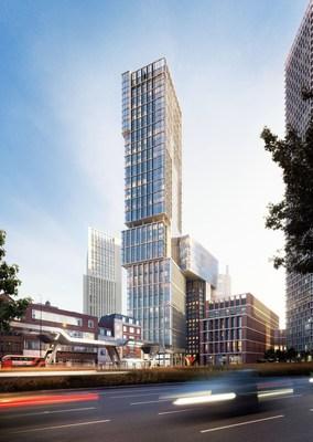 AYKON Nine Elms, designed by architects Kohn Pedersen Fox Associates (KPF) (PRNewsFoto/DAMAC Properties) (PRNewsFoto/DAMAC Properties)
