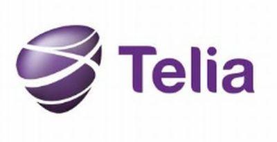 Telia logo.