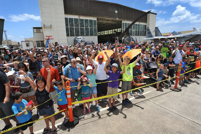 A crowd gathers in front of Hangar 79 for the Biggest Little Airshow in Hawaii at Pacific Aviation Museum Pearl Harbor. (PRNewsFoto/Pacific Aviation Museum Pearl...)