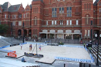 Completed sand volleyball court with sand supplied by Fairmount Minerals. (PRNewsFoto/Fairmount Minerals)