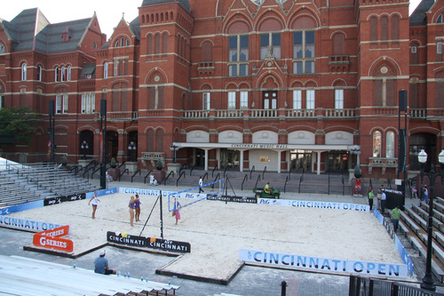Completed sand volleyball court with sand supplied by Fairmount Minerals. (PRNewsFoto/Fairmount Minerals)