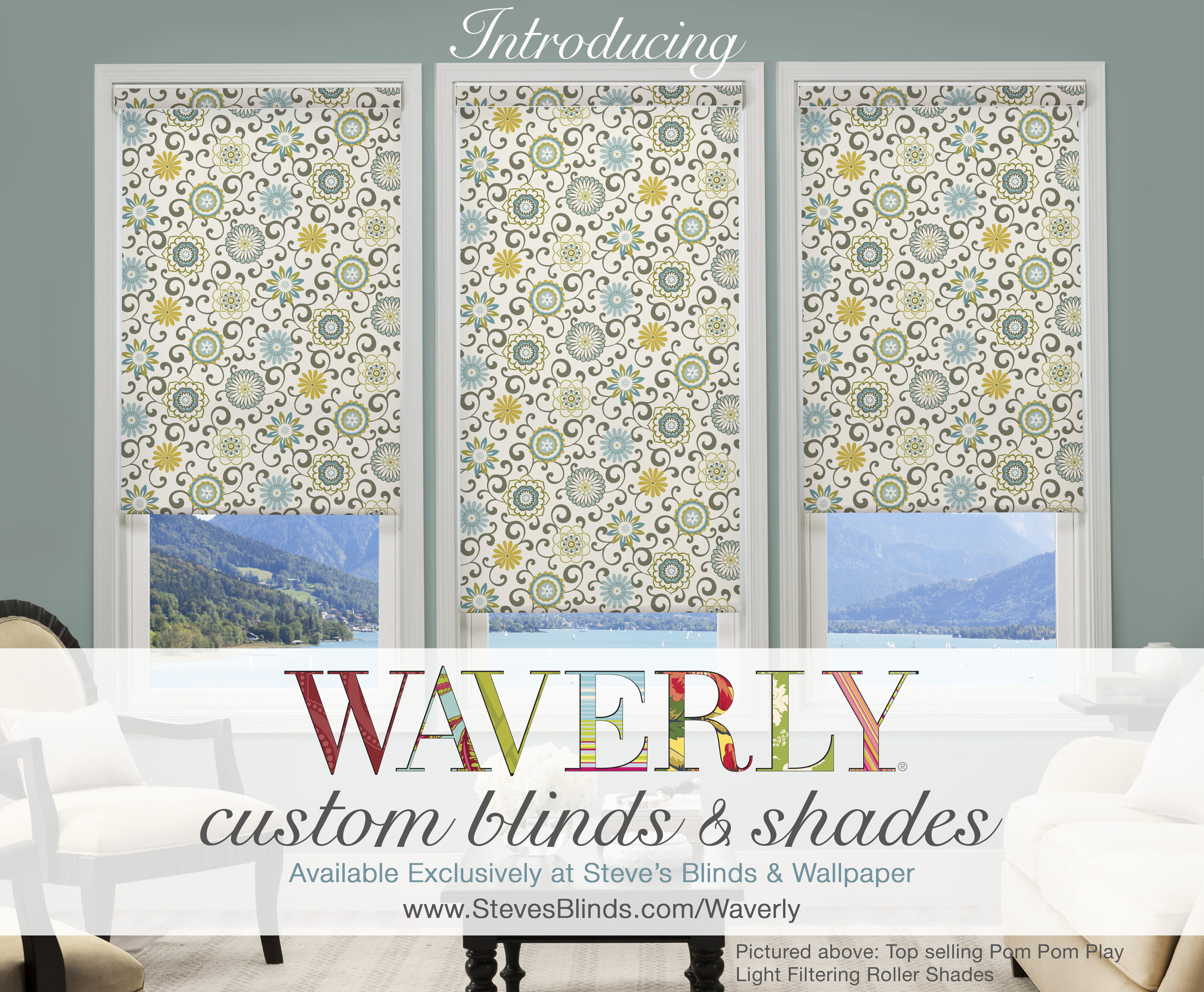 Steves Blinds Wallpaper and Waverly Join Forces to Introduce