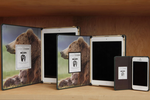 """DODOcase Celebrates Earth Day with Limited-Edition Collection of Disneynature """"Bears"""" Cases.  DODOcase launches a line of custom designed iPad Air cases, iPad mini cases and iPhone 5/5S cases to support Disneynature's new big-screen adventure film """"Bears"""" and the National Park Foundation.  DODOcase will contribute 20% of every sale to the National Park Foundation. Visit www.dodocase.com for more information and to purchase your limited-edition Disneynature  """"Bears"""" case. (PRNewsFoto/DODOcase)"""
