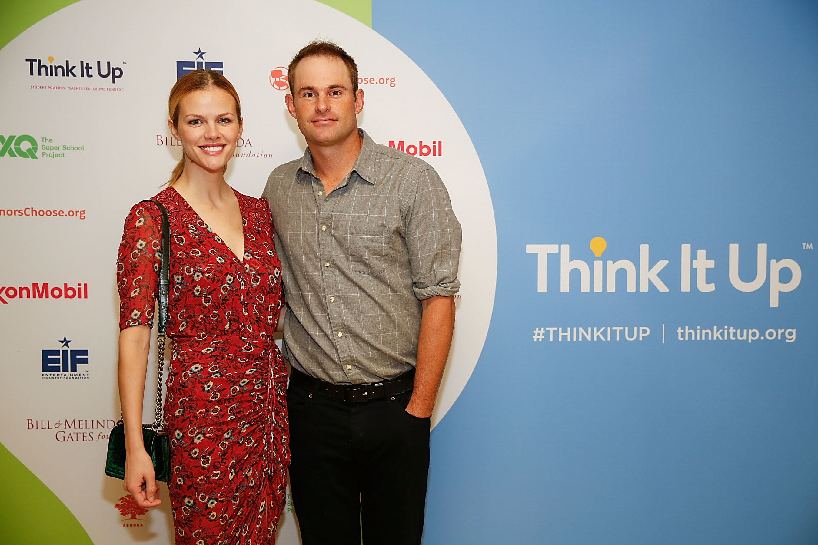 Andy Roddick and Brooklyn Decker at EIF's Think It Up Live Event