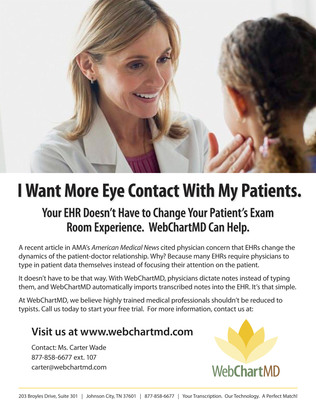 WebChartMD - Clinical Documentation Made Easy.  (PRNewsFoto/WebChartMD)