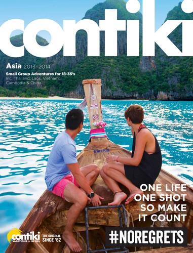 Contiki's 2013/2014 Asia Brochure.  (PRNewsFoto/Contiki Vacations)