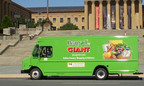 Peapod by GIANT truck passing by the Philadelphia Museum of Art.  (PRNewsFoto/Peapod)