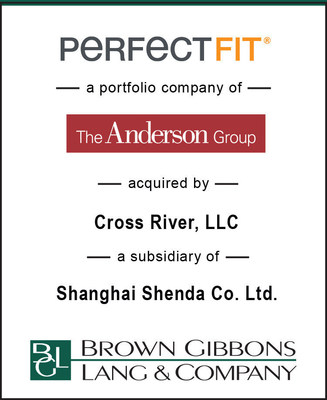 Brown Gibbons Lang (BGL) M&A Tombstone for the sale of a U.S.-based designer and supplier of innovative sleep and home health products, Perfect Fit, a portfolio company of The Anderson Group to Cross River, LLC, a subsidiary of Shanghai Shenda Co.