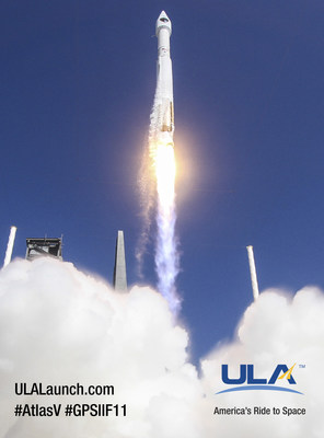 Cape Canaveral Air Force Station, Fla. (Oct. 31, 2015) - A United Launch Alliance (ULA) Atlas V rocket carrying the GPS IIF-11 mission lifted off from Space Launch Complex 41 at 12:13 p.m. EDT. Photo by United Launch Alliance