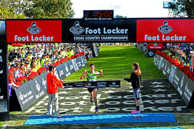 Defending Champion Grant Fisher of Grand Blanc, Mich., captured the first place title at the 36th Annual Foot Locker Cross Country Championships National Finals (FLCCC) at Morley Field, Balboa Park in San Diego, Calif., today in 15:03.
