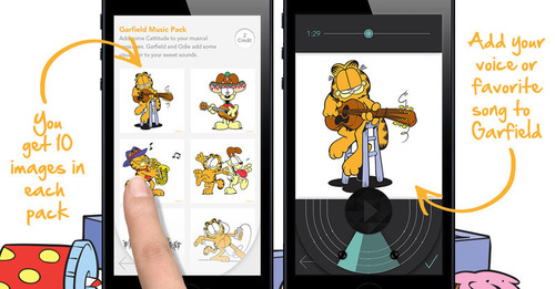 Add your voice or favorite song to Garfield. (PRNewsFoto/Shuttersong) (PRNewsFoto/SHUTTERSONG)
