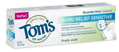 Tom's of Maine New Rapid Relief Sensitive Toothpaste