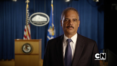 U.S. Attorney General Eric Holder lends his voice to Cartoon Network's STOP BULLYING: SPEAK UP call-to-action campaign against bullying. (PRNewsFoto/Cartoon Network)