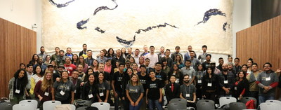 Startup Weekend Oakland: Latinx Tech Edition participants and organizers at the end of a long and exciting weekend.