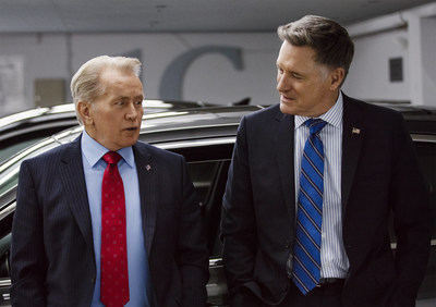 "Martin Sheen and Bill Pullman are featured in Chrysler's new ""Premium to the People"" marketing campaign. Photo credit: Chrysler brand/Jake Trott"