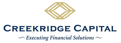 Creekridge Capital is a privately owned and independently operated healthcare and technology focused Lessor. We provide unique vendor programs that are creative, competitive and professionally administered for manufacturers and distributors of equipment, software and related services. (PRNewsFoto/Creekridge Capital) (PRNewsFoto/CREEKRIDGE CAPITAL)
