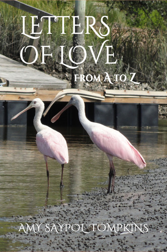 "LETTERS OF LOVE: From A to Z is a different kind of alphabet book for anyone who wants to express heartfelt devotion to a special partner, a sibling, or a friend. With twenty-six sentiments of love, accompanied by beautiful photographs, there is one for each letter of the alphabet. Available at Amazon.com under ""Amy Saypol Tompkins,"" in Paperback and Kindle versions.  (PRNewsFoto/Amy Saypol Tompkins)"